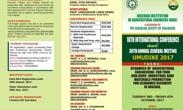 NIAE 2017 International  Conference (Umudike)