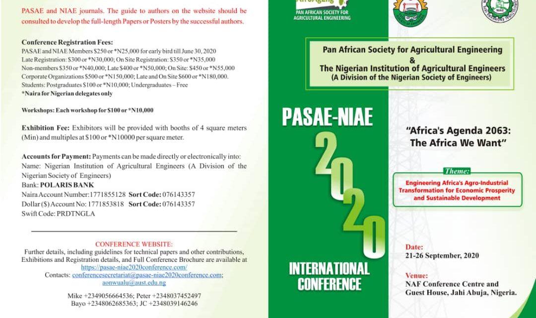 PASAE-NIAE International conference 2020